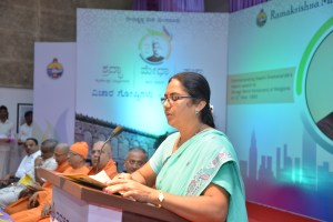 Smt., Sujatha anchoring the programme