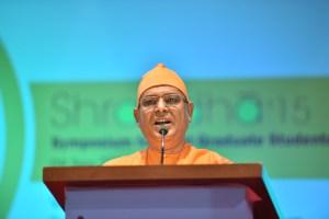 Swami Suviranandaji delivering the inaugural address
