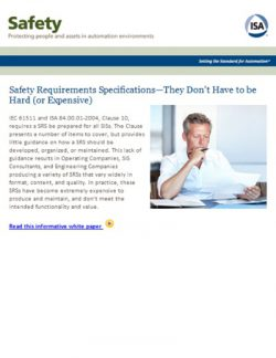 Safety Requirements Specifications – They don't have to be hard (or expensive)