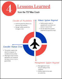 Infographic of lessons from a plane crash