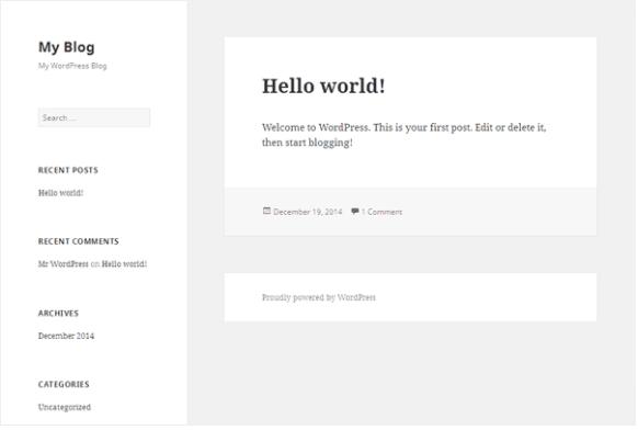 Primera versión de tu blog en WordPress
