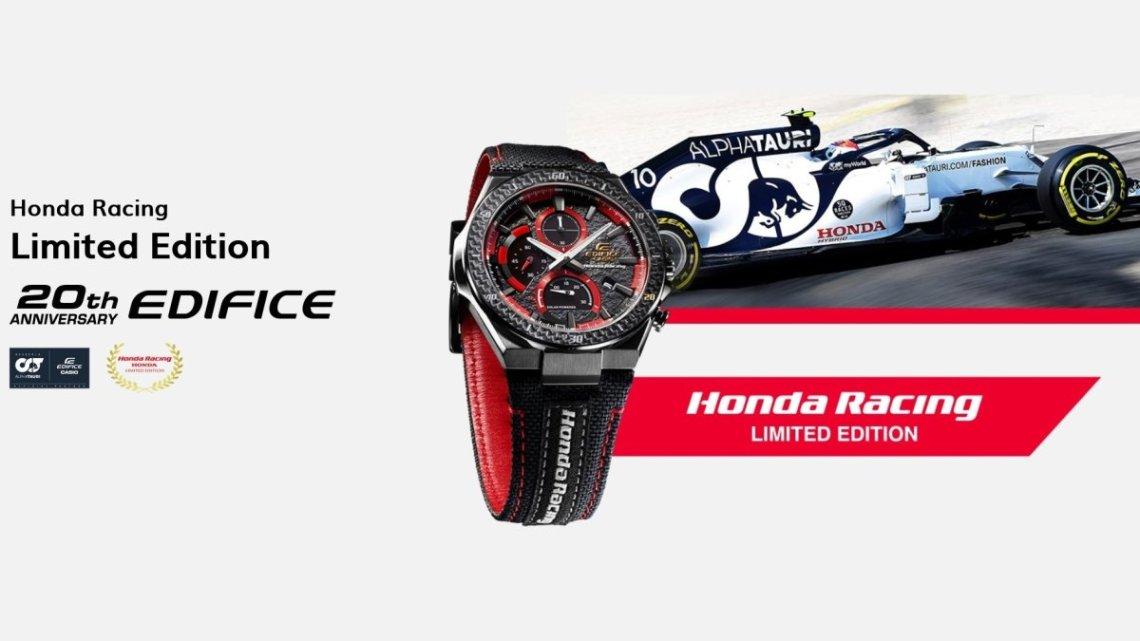 Casio představilo nový model hodinek řady EDIFICE ve spolupráci se závodním týmem Honda Racing