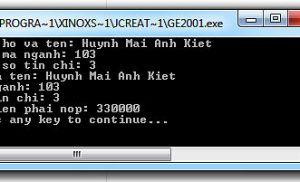 Bài toán Java yêu cầu tính học phí của sinh viên
