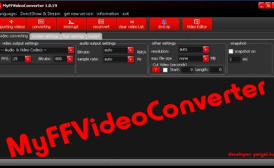 MyFFVideoConverter – Công cụ biên tập video miễn phí mà đa năng