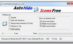 Ẩn nhanh các biểu tượng trên màn hình desktop