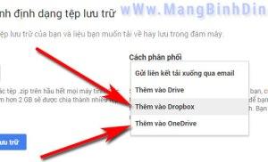 Google hỗ trợ người dùng di chuyển dữ liệu sang OneDrive và Dropbox