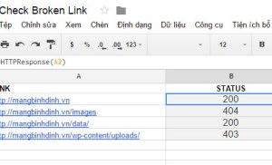 Cách kiểm tra link hỏng hàng loạt bằng Google Sheets
