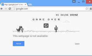 Chơi game tích hợp trong Google Chrome khi bị mất kết nối interet
