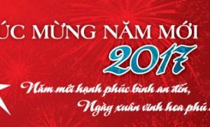 Mạng Bình Định chúc mừng năm mới 2017 tới quý độc giả