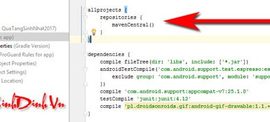 Chèn ảnh động trong Android Studio