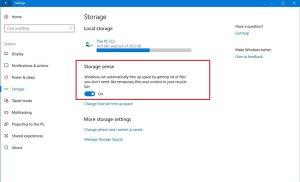 Thiết lập dọn rác trong Windows 10