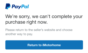 "Khắc phục lỗi ""We're sorry, we can't send your payment right now"" khi thanh toán bằng Paypal"