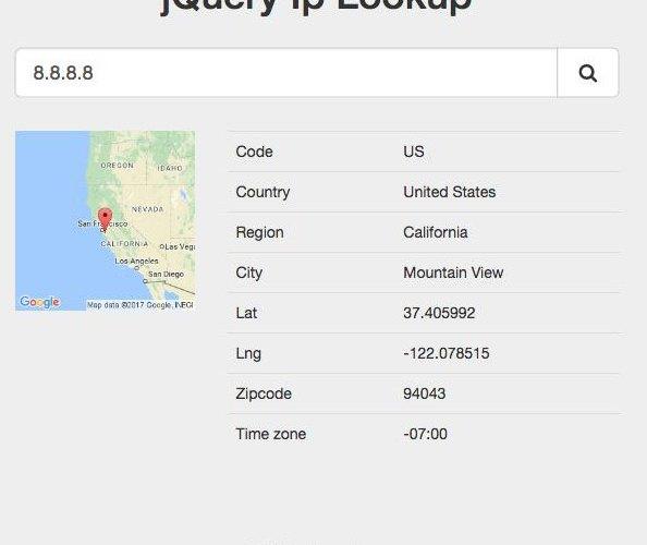 Mã nguồn tạo trang tìm thông tin IPv4