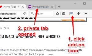Mở chế độ ẩn danh và thông thường trên cùng một cửa sổ trình duyệt Firefox