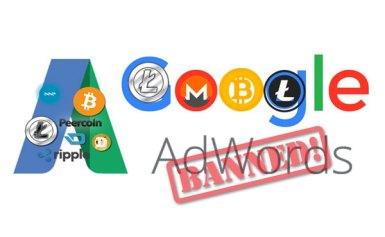 Google cấm tất cả quảng cáo tiền điện tử