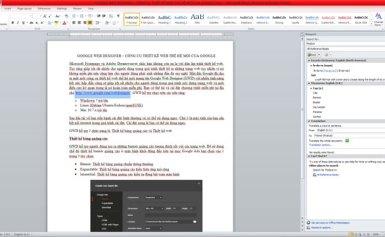 Tìm kiếm nhanh thông tin từ cửa sổ Word