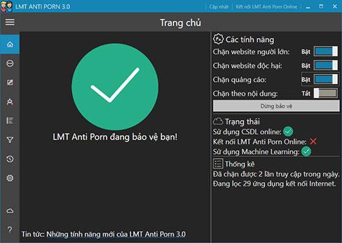 LMT Anti Porn – Phần mềm Việt giúp ngăn chặn web đen trên Internet