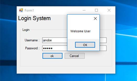 Tạo hệ thống đăng nhập với C# và cơ sở dữ liệu MS Access