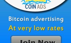 Kiếm bitcoin miễn phí tại Coin-Ads