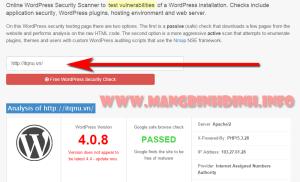 Kiểm tra độ an toàn của trang web trên nền tảng WordPress