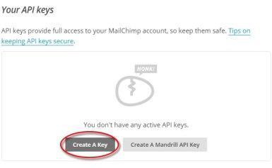 Hướng dẫn tạo API key cho MailChimp