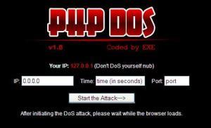 PHP DoS – Ứng dụng tấn công bằng phương thức DoS trên nền web