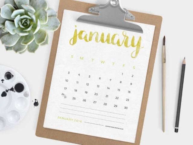 calendrier clementine creative