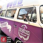 branding stiker mobil bandung pesgobar ungu doff kualitas mangele sticker