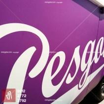 stiker mobil bandung pesgobar ungu doff kualitas mangele sticker