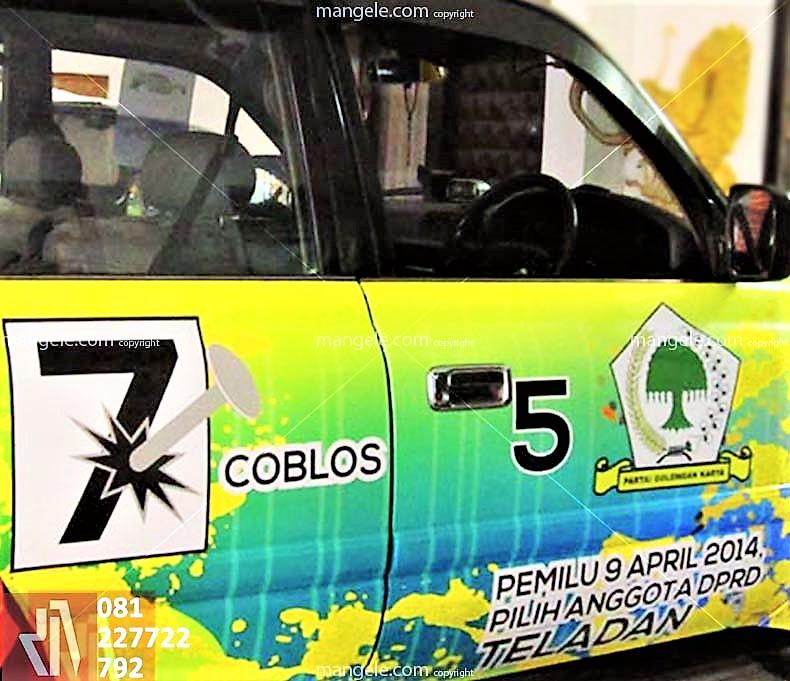 jasa stiker mobil branding bandung | full body promo caleg | mangele sticker 081227722792