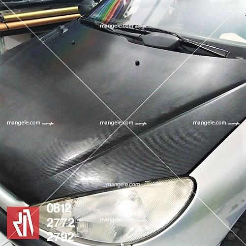 carbon stiker mobil peugeot di bandung | kap mesin & bagasi | mangele 081227722792