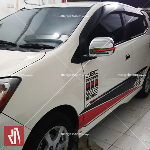 cutting stiker mobil agya | racing flag | 081227722792 bandung