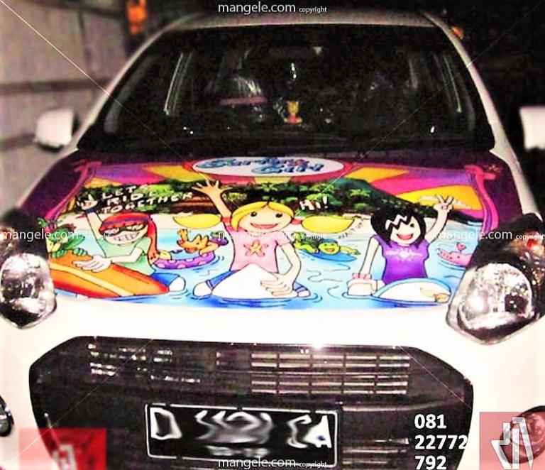 bengkel pasang stiker mobil di bandung | mangele sticker 081227722792 | surfer girl ayla