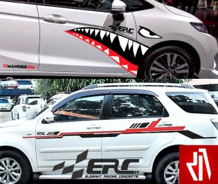 Mangele Cutting Sticker Mobil