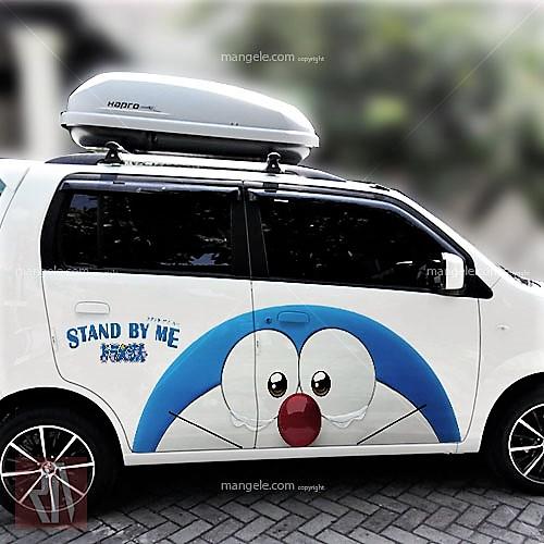 tempat pasang sticker mobil di bandung   mangele 081227722792   stiker print karakter doraemon
