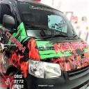 stiker branding terbaik mobil pickup di bandung