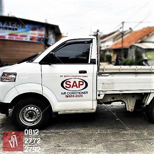 stiker branding mobil pickup terlaris di bandung   mangele 081227722792