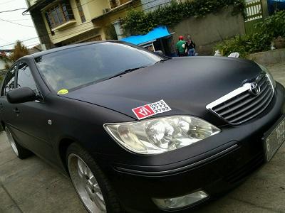 stiker mobil warna hitam promo di bandung | mangele profesional wrapping | 081227722792