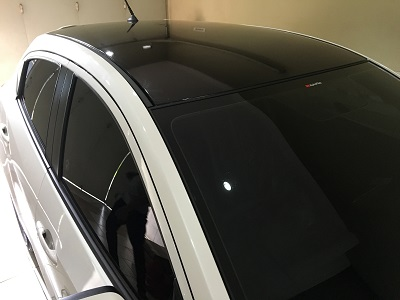 Tempat stiker atap Mobil | Hitam Gloss | mangele stiker | 081227722792