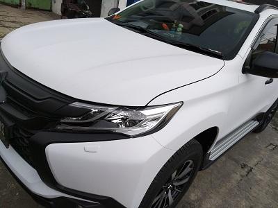 wrapping stiker mobil putih | pajero sport doff di bandung | 081227722792