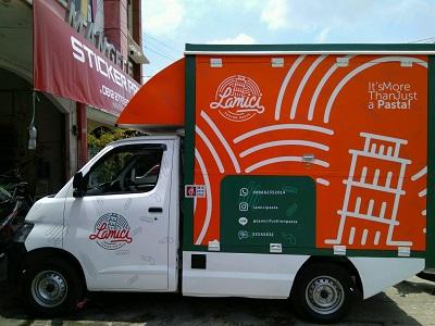 stiker branding food truck | mangele stiker | 081227722792 bandung | lamici