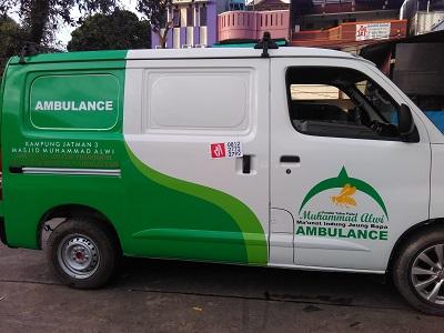 branding stiker mobil   granmax ambulance di bandung   mangele stiker 081227722792