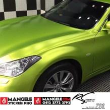 GCM-06 Lime Green chrome metallic matte rs premium