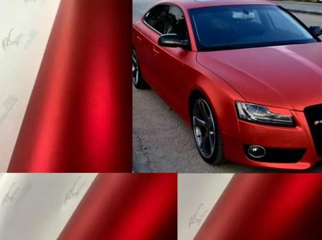 RCM-02 Red chrome metallic matte RS Premium wrapping