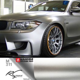 M311 Platinum Silver chrome metallic matte RS Premium wrapping