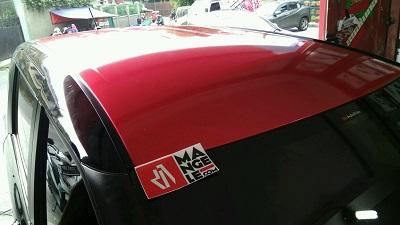 wrapping stiker mobil | Sienta Merah Gloss Premium di Bandung | mangele stiker 081227722792