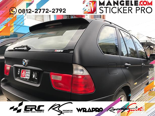 wrapping stiker mobil | BMW Stiker Hitam Doff di Bandung | mangele stiker 081227722792