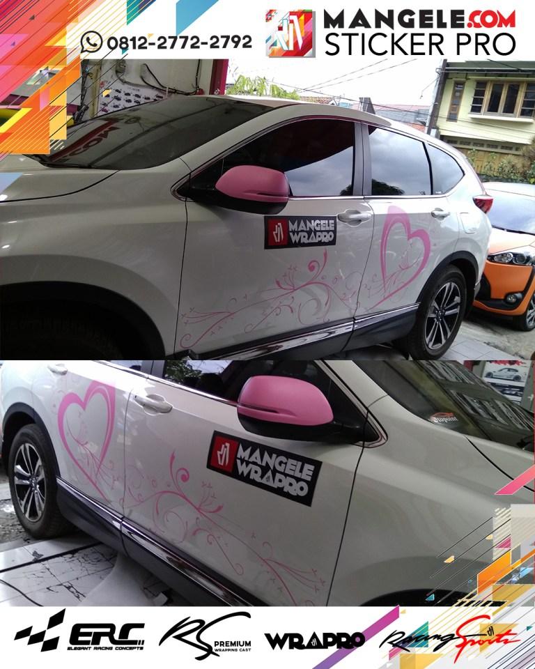 cutting stiker mobil | Cutting CRV custom Bunga di Bandung | mangele stiker 081227722792