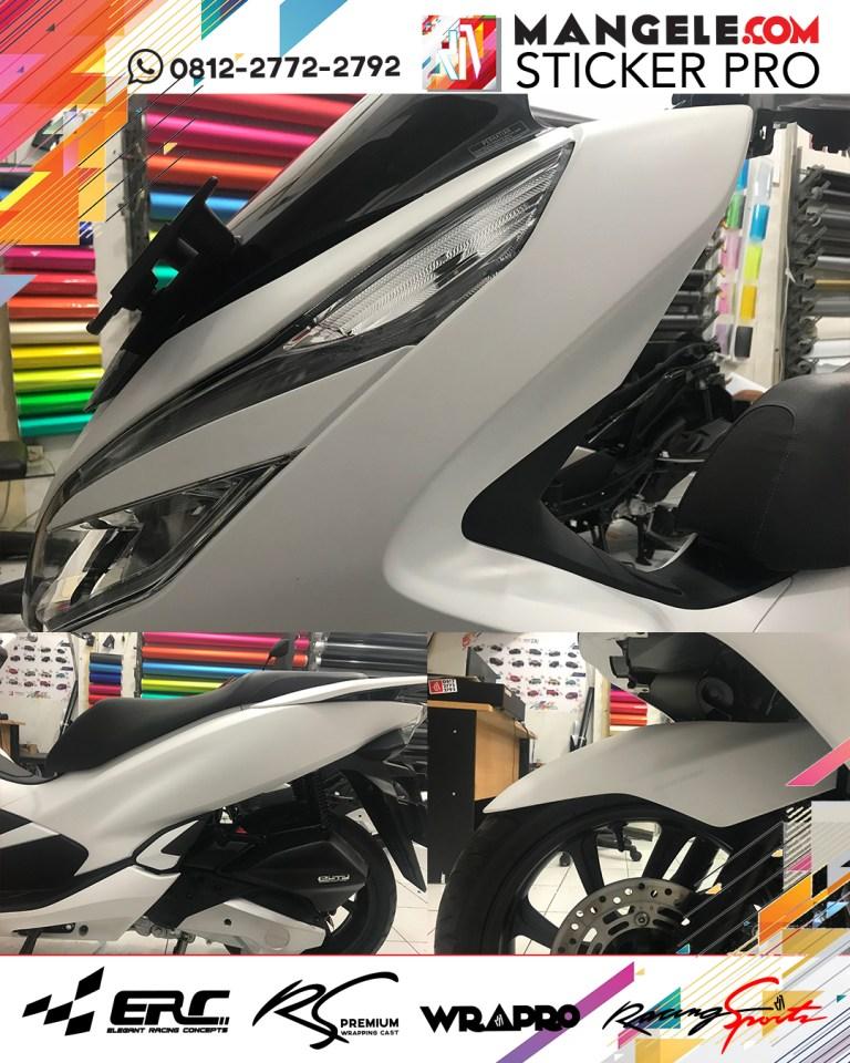wrapping stiker motor | PCX Stiker Putih Doff di Bandung | mangele stiker 081227722792