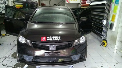 wrapping stiker mobil | Chrome Mirror Stiker Civic di Bandung | Premium Wrapping stiker 081227722792